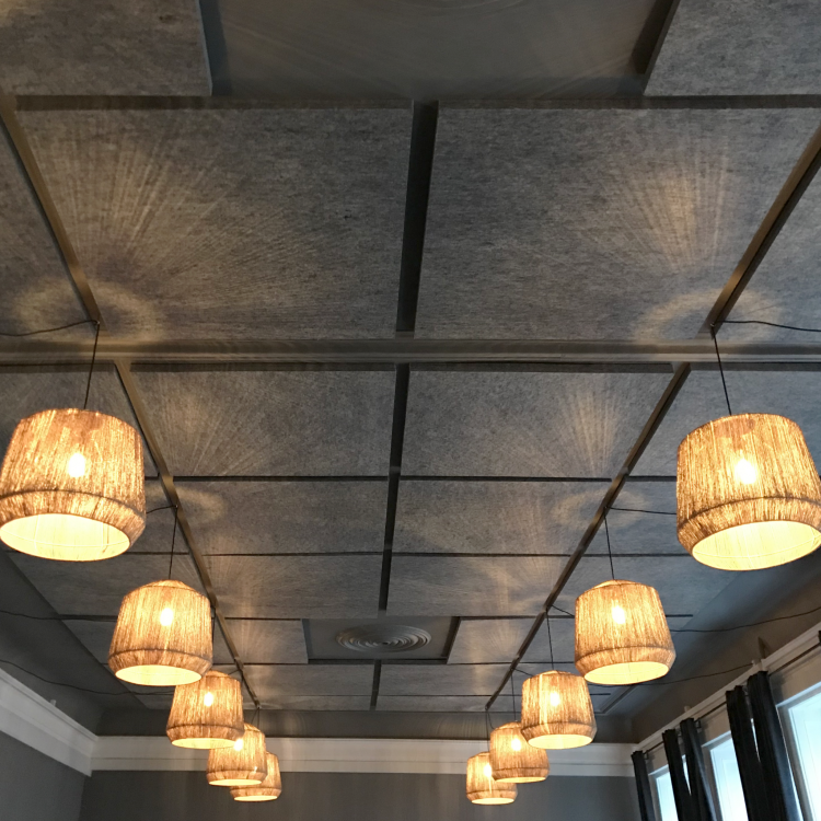 Attached acoustic ceiling af Jeudan HQ in Denmark