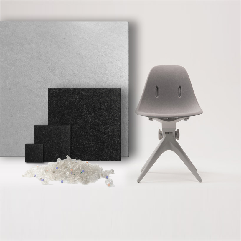The acoustic panels/soundscapes are made from reusable plastics